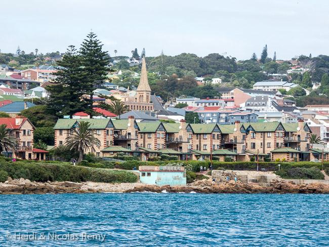 Météo oblige, voici tout ce que nous verrons de Mossel Bay, pourtant jolie à première vue et historique qui plus est.